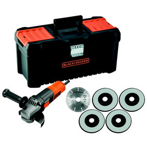 Angle grinder BEG220KA5 / 125 mm/ 900W, Black+Decker