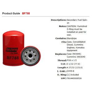 Kütuse eelfilter KOMATSU 6732-71-6110/6732-71-6112, Baldwin