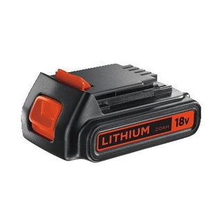 Battery 18V / 2,0 Ah Li-ion, Black+Decker