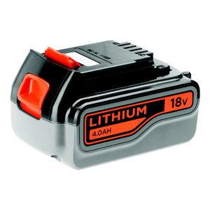 Battery 18V / 4,0 Ah Li-ion, Black+Decker