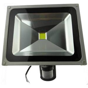 LED lampa 50W IP54 ar sienas stiprinājumu un PIR sensoru, Sled