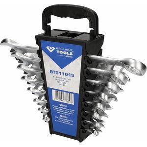 Kombinuotų veržliarakčių kompl., 15-vnt., Brilliant Tools