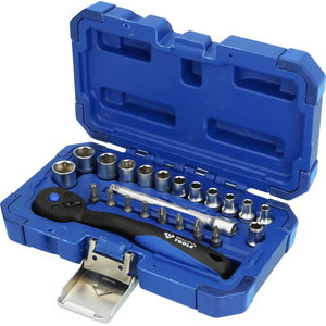 """1/4"""" Socket Set, 23-pcs, Brilliant Tools"""