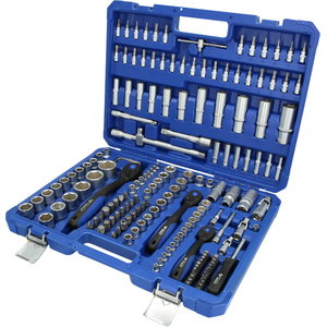 """Socket set, 172-pcs, 1/4"""", 3/8"""", 1/2"""", Brilliant Tools"""