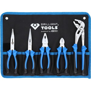 Pliers set, 5pcs, in fabric pouch, Brilliant Tools