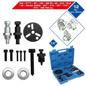 12-pcs A/C Compressor clutch remover kit, Brilliant Tools