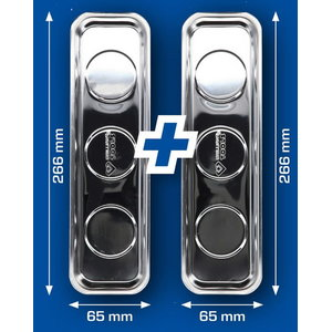 Magnetinis padėklas, nerūdijantis plienas, 2vnt., 266x65mm, Brilliant Tools