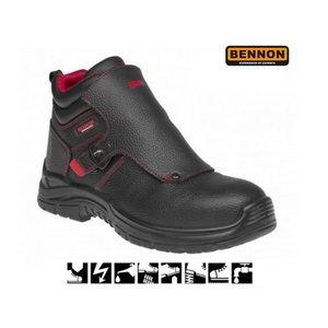 Apsauginiai batai suvirintojui Welder S3 HRO SRC, juoda 43, Bennon