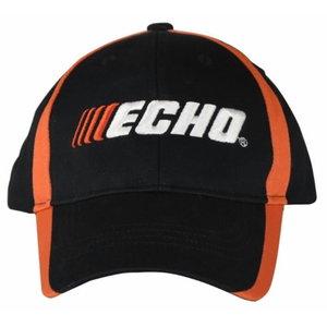 Kepurė juoda , black/orange, ECHO