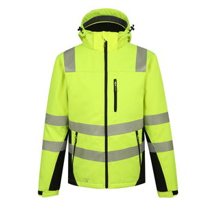 Augstas redzamības ziemas softshell jaka Calgary, dzeltena, Pesso