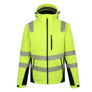 Softshell jakk Calgary voodriga kõrgnähtav, kollane XL