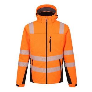 Augstas redzamības ziemas softshell jaka Calgary, oranža, 2X