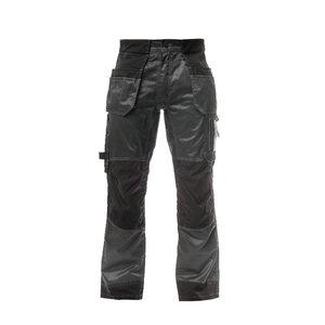STOKKER bikses ar piekarināmām kabatām, tumši pelēkas/melnas, Stokker