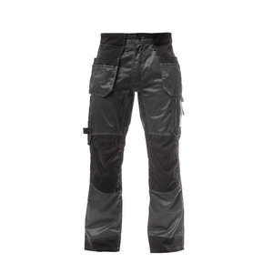 STOKKER bikses ar piekarināmām kabatām, tumši pelēkas/melnas