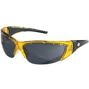 Kaitseprillid ForceFlex, läbikumav kollane raam, hall klaas, MCR