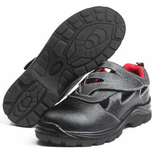 Safety sandals Chester S1P, black 37, Pesso