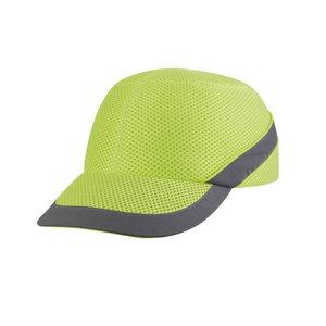 Air Coltan bump cap, HiViz yellow, adjustable, Delta Plus