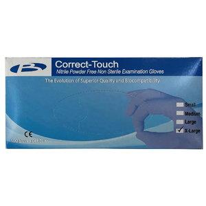 Gloves, nitrile, powderfree, disposable, Blue XL