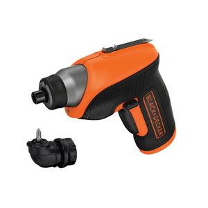 Cordless screwdriver CS3652LC / 3,6V / 1,5 Ah + angle attach, Black+Decker
