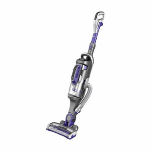 21.6V Li-ion Cordless Upright Pet Vacuum, Black+Decker