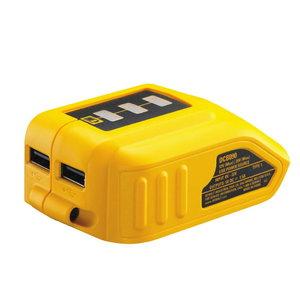 USB adapter, 2x1,5A. Sobib 10,8 - 54V akudele, DeWalt