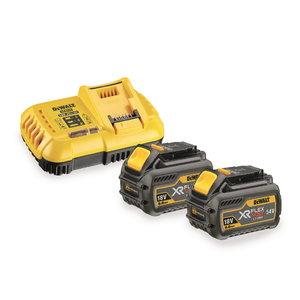 Flexvolt fast charger 8 A,  2 x 54V/2.0Ah 18V/6.0 Ah, DeWalt