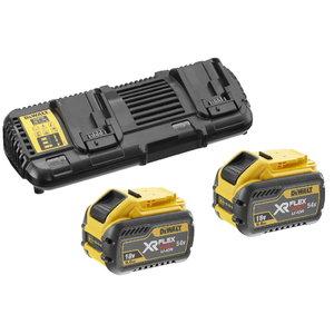 Flexvolt ātrais lādētājs 18 - 54V + 2x9,0Ah akumulatori, DeWalt
