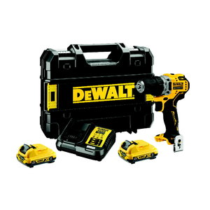 Cordless drill DCD701D2, 12V / 2 x 2,0Ah, DeWalt