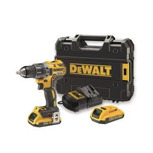 Cordless drill DCD791D2, brushless, 18V / 2,0Ah, DeWalt