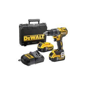 Cordless drill DCD791P2, brushless, 18V / 5,0Ah, DeWalt