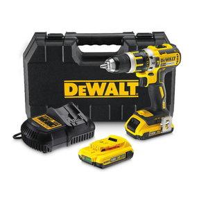 Cordless drill DCD795D2, brushless, 18V / 2,0Ah, DeWalt
