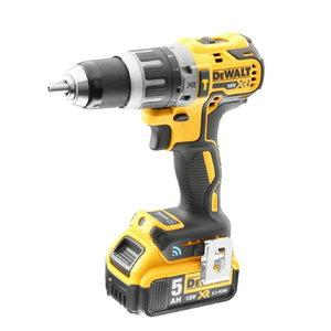 Cordless hammer drill DCD797P2B, brushless, TC,18V / 5,0Ah, DeWalt