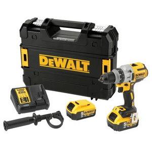 Cordless drill DCD991P2, brushless, 18V / 5,0Ah, DeWalt