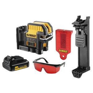 Cross line / spotlaser DCE0822LR, red lines, AA batteries, DeWalt