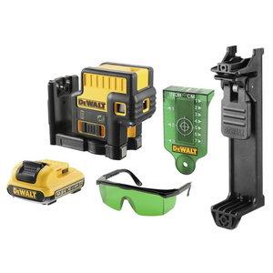 5 punkti laser DCE085D1G, rohelise kiirega, 2Ah, DeWalt