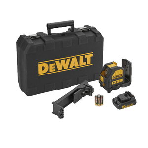Cross line laser DCE088LR, 2 red lines, AA batteries, DeWalt