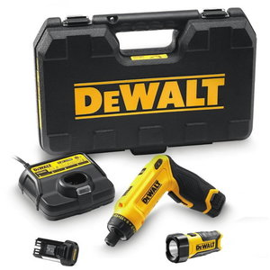 Cordless screwdriver GYRO DCF680G2 / 7,2V / 1,0 Ah + lamp, DeWalt