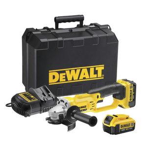 Cordless angle grinder DCG412M2 125 mm, 18V / 4,0Ah, DeWalt
