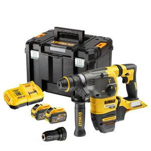 Cordless hammer drill DCH334X2, SDS+, Flexvolt + 13 mm chuck, DeWalt