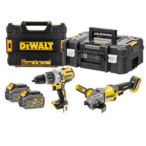 54V Combo: drill DCD996 + angle grinder DCG414 / Flexvolt, DeWalt