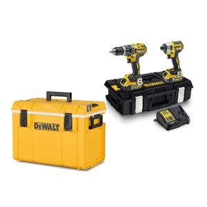 18V Combo rinkinys DCD796 + DCF887 2 x 5,0 Ah + Cooler box, DeWalt