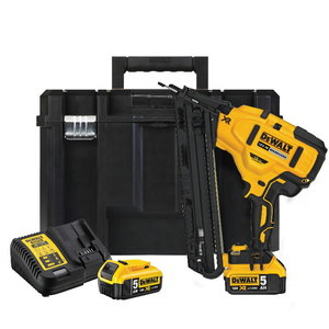 Cordless nailgun DCN650P2, brushless, 32-63mm, 18V / 5,0Ah, DeWalt