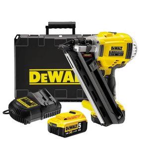 Akumulatora naglotājs DCN692P2 bezoglīšu, 50-90mm, 18V/5,0Ah, DeWalt