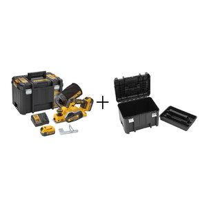 Akumulatora ēvele DCP580P2, BL, 18V/5,0Ah+extra TSTAK box, DeWalt