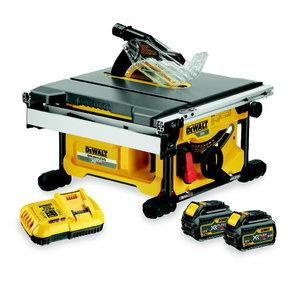 Table top saw DCS7485T2, Flexvolt, 210mm, brushless, 2,0Ah, DeWalt