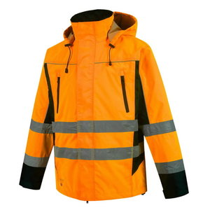 Augstas redzamības vējjaka Denver CL2, orange/black, Pesso