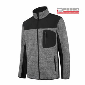 Softshell jakk Derby, kootud osaga, hall/must S, Pesso