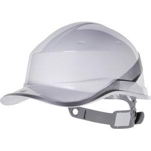 Aizsargķivere BASEBALL adjustable, balta DIAMOND V, Delta Plus