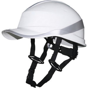 Protective helmet, Baseball, 1000 VAC/1500 VDC, white DIAMOND V UP, Delta Plus