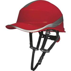 Kaitsekiiver Baseball, 1000 VAC/1500 VDC, punane DIAMOND V U, DELTAPLUS